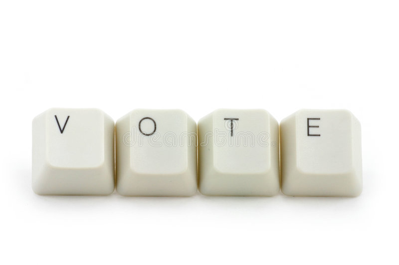 Concept of online vote stock images