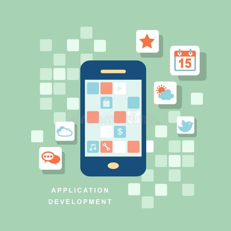 Concept ontwikkelingsproces een toepassing royalty-vrije illustratie