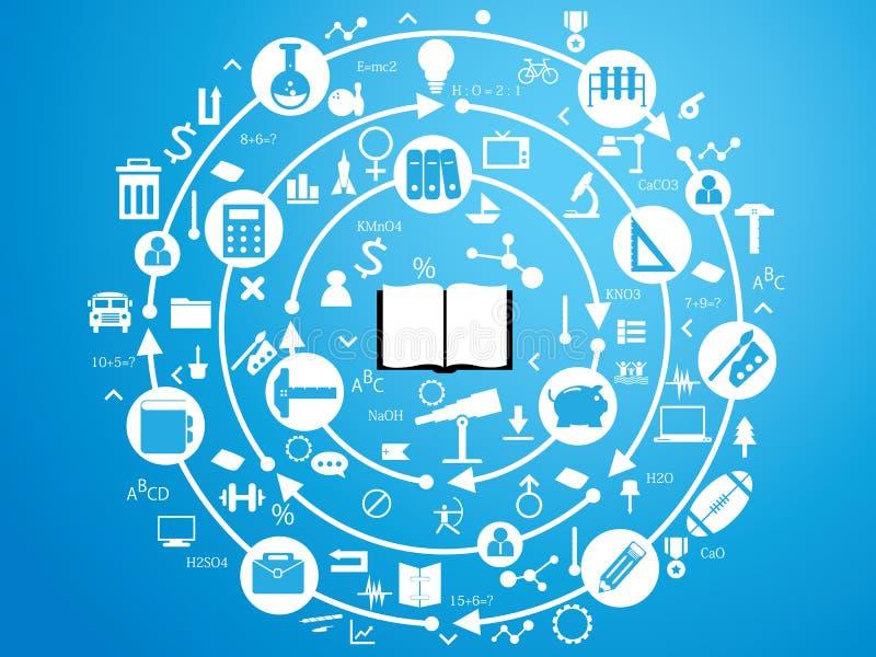 Concept op het onderwerp van onderwijs stock illustratie