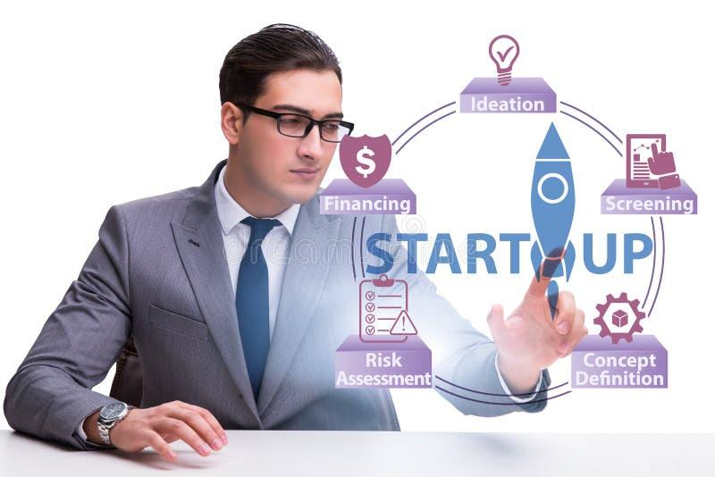 Concept opstarten en ondernemerschap stock foto