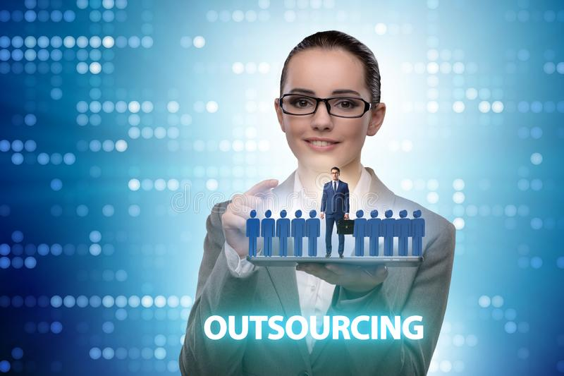 Concept of outsourcing in modern business royalty free stock image