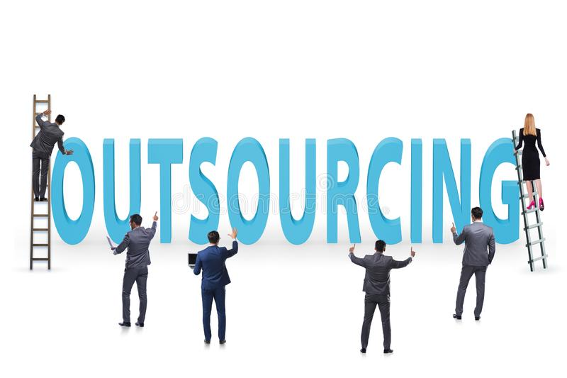 Concept of outsourcing in modern business royalty free stock images