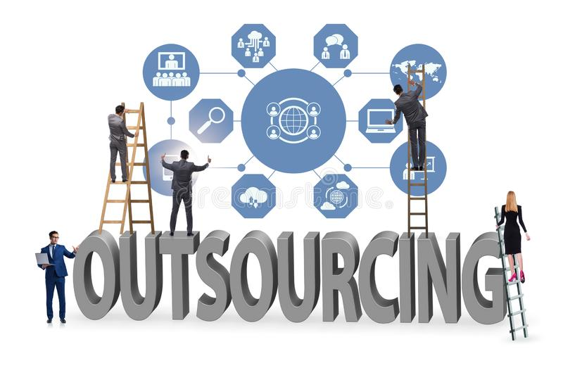 Concept of outsourcing in modern business royalty free stock photo