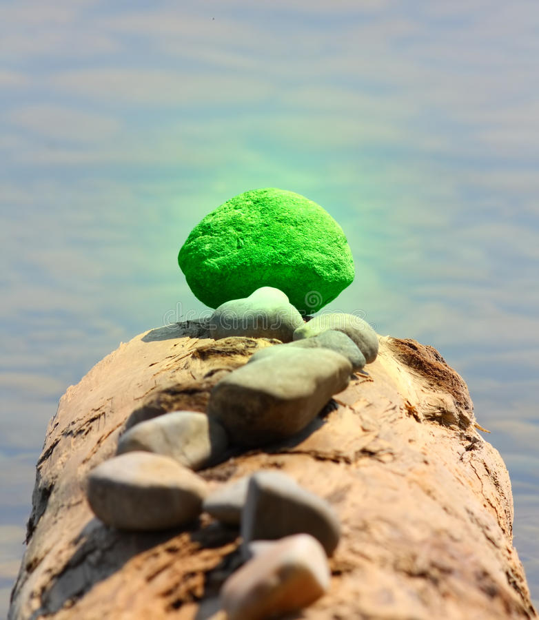 Concept - Outstanding Green Stone Stock Photography