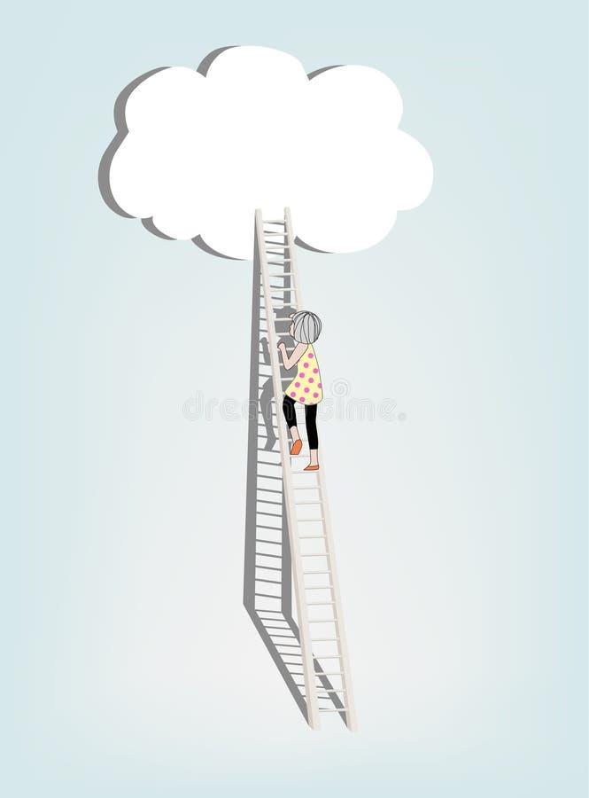 Concept over droom en succes vector illustratie