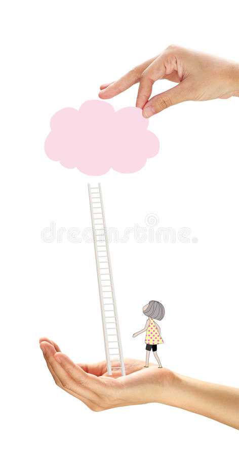 Concept over droom en succes stock afbeelding