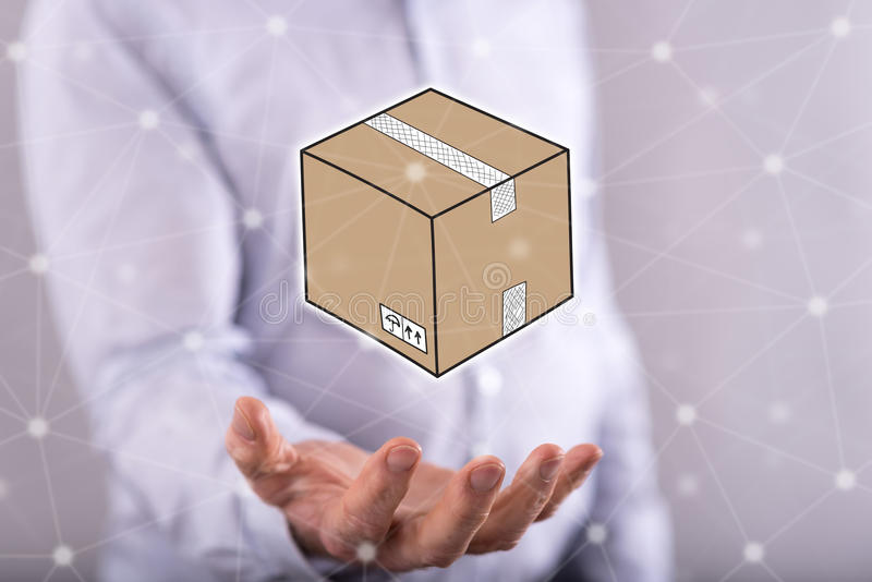 Concept of packaging royalty free stock photos