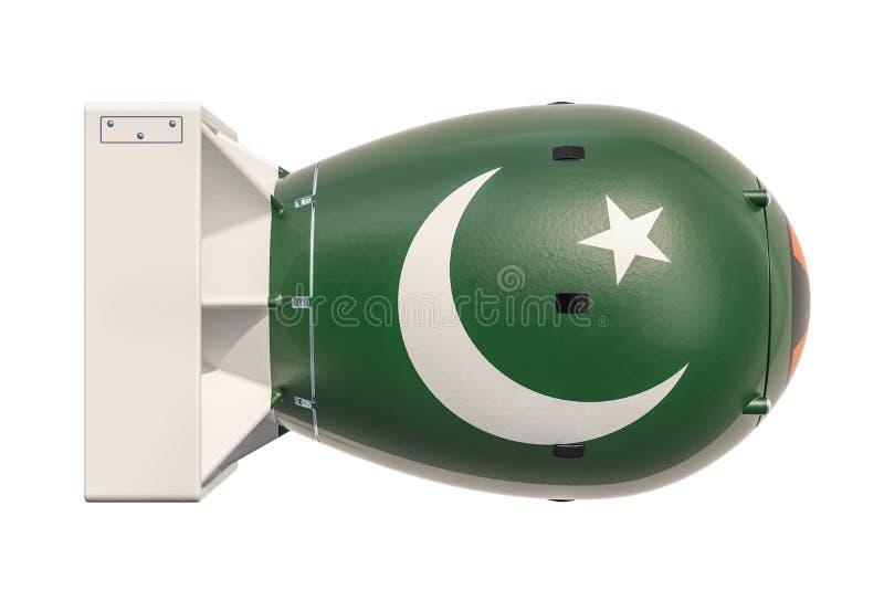 Concept pakistanais d'arme nucléaire, rendu 3D illustration de vecteur