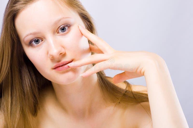 Concept parfait de peau image stock