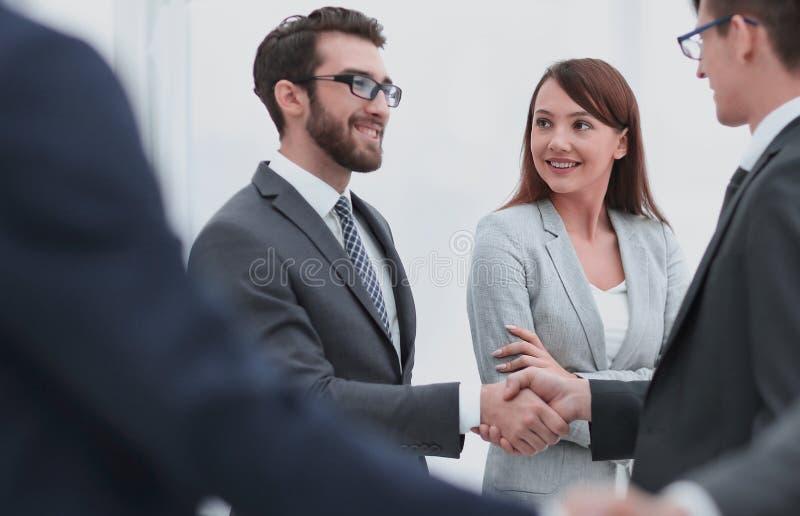 Concept of partnership.business handshake stock photography