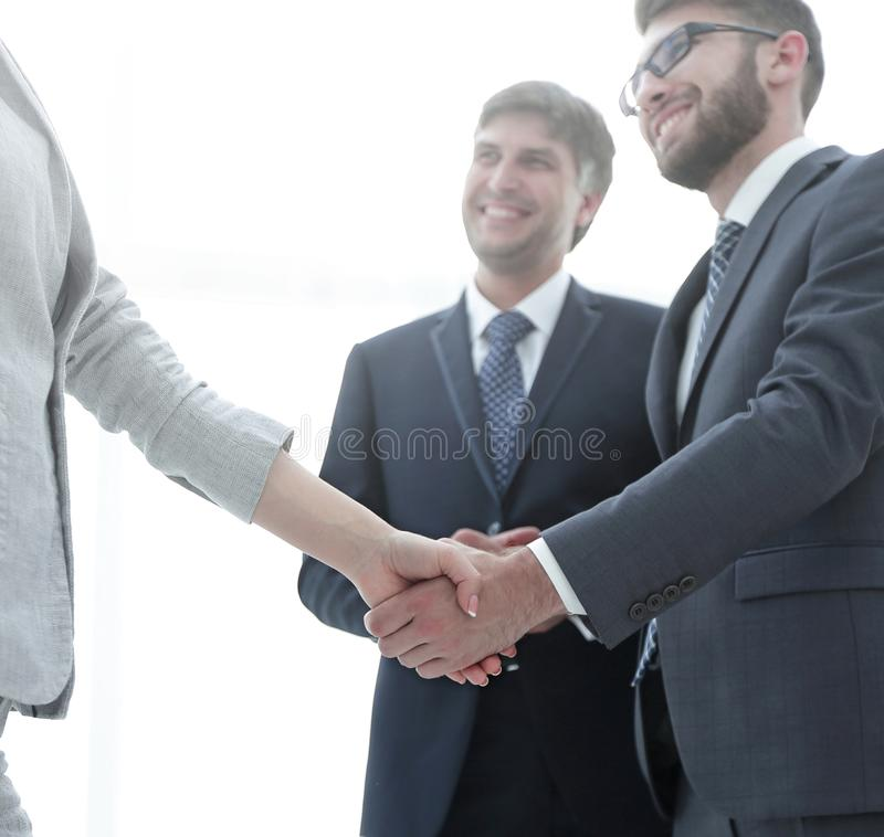 Image of business partners making an agreement stock photo