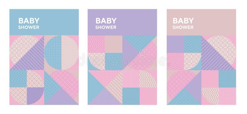 Concept pastel color geometric pattern. stock illustration