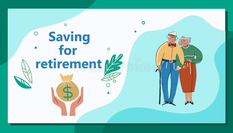 Accumulation Pension Vector. Cartoon. Isolated art on white background. Flat vector illustration