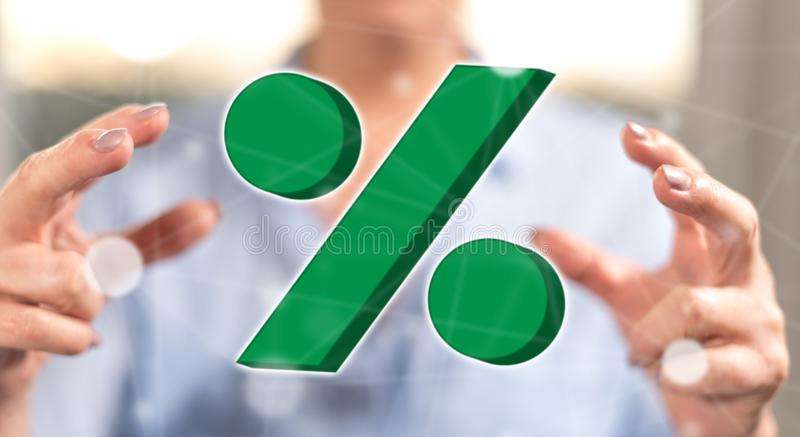 Concept percenten stock foto's