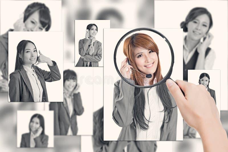 Concept personeel stock fotografie