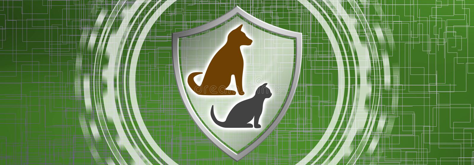 Concept of pet protection vector illustration
