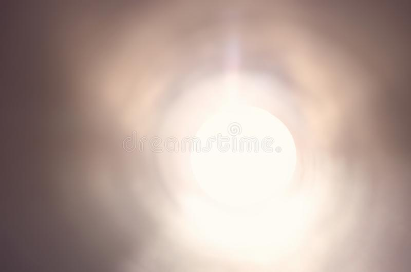 Concept photo of seeing the light at the end of the lunnel .sci fi or mystery royalty free stock photos