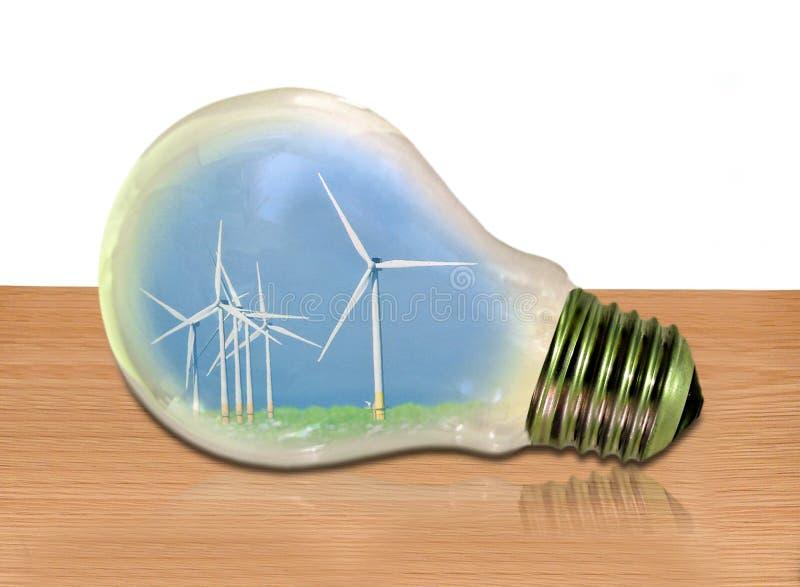 Power energy electrical electric bulb light green greenhouse climate change global windfarm wind farm turbines windmills renewable stock photos