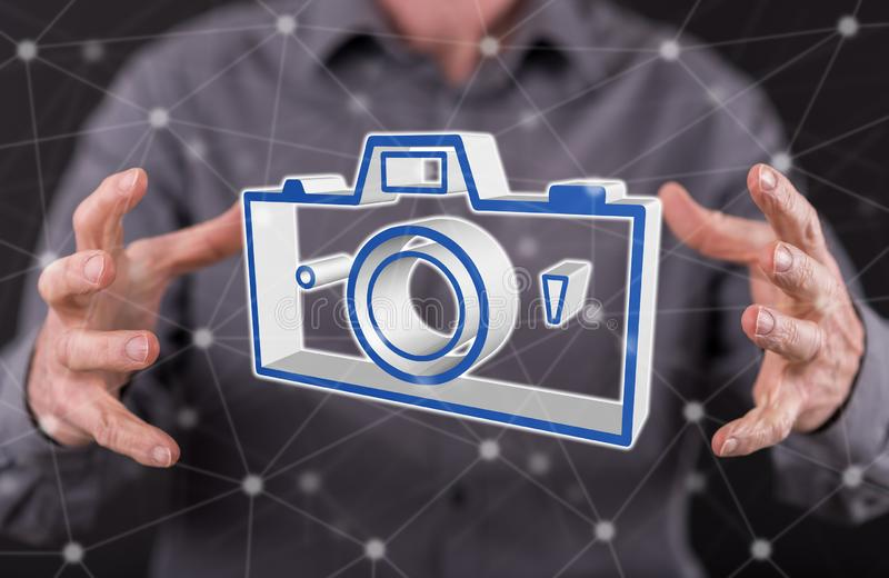 Concept of pictures sharing stock images