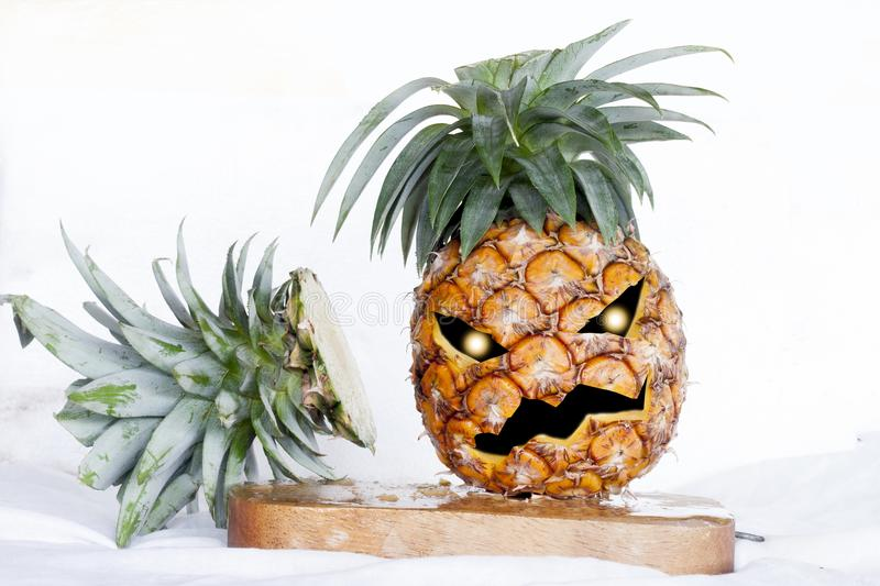 Pineapple sign of Halloween. royalty free stock images