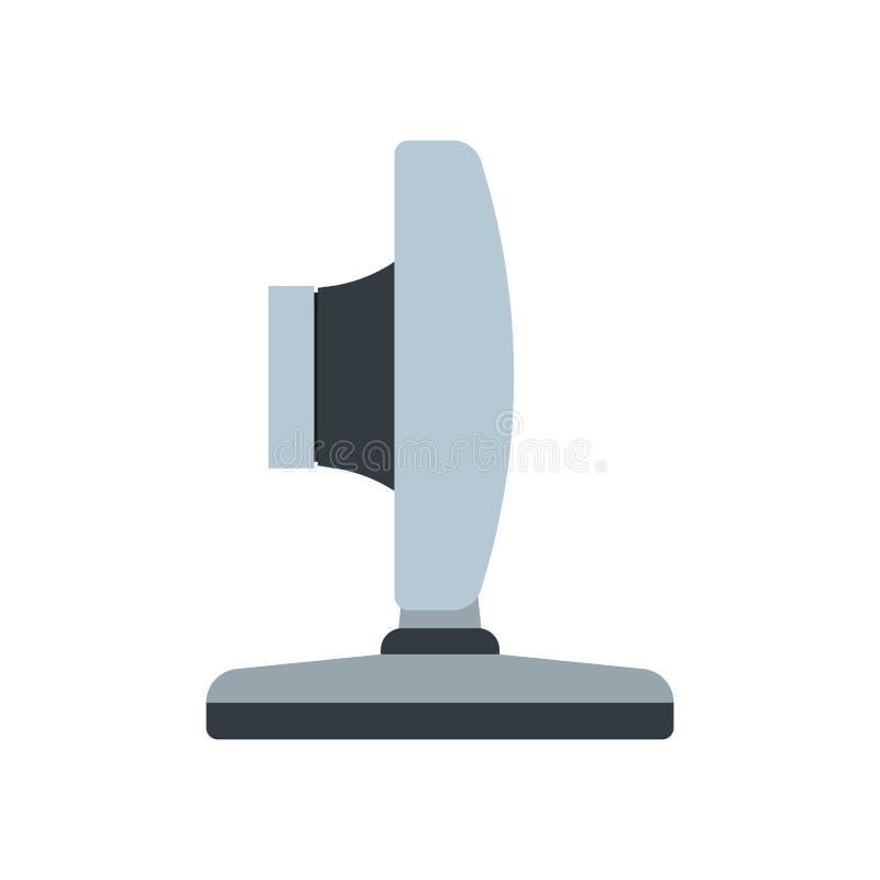 Concept plat d'équipement de communication d'illustration d'icône de vecteur de vue de côté de webcam Médias vivants de lentille  illustration libre de droits