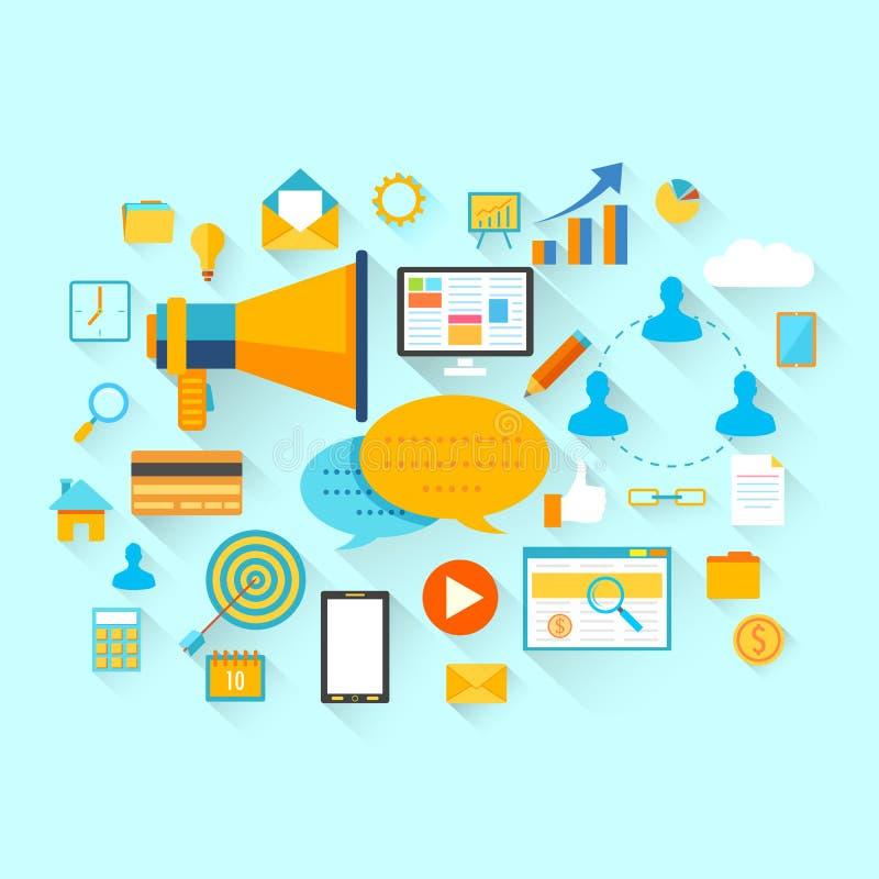 Concept plat d'affaires et de technologie illustration de vecteur
