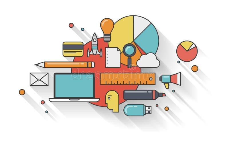 Concept plat d'illustration d'affaires modernes illustration libre de droits