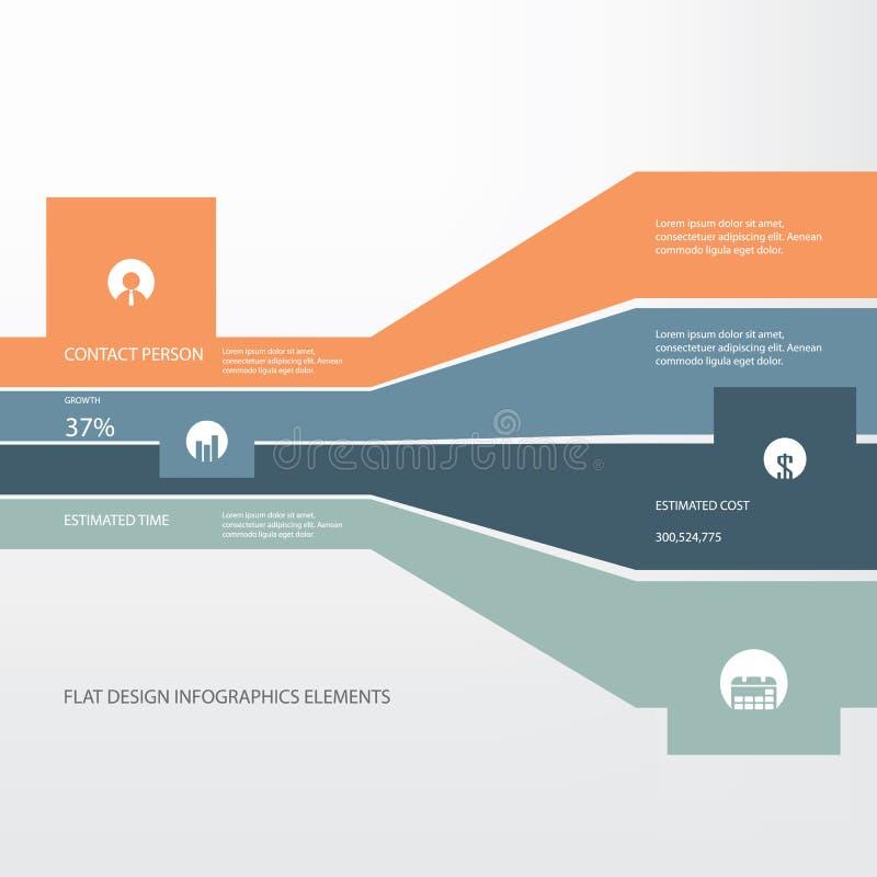 Concept plat d'infographics de conception pour des projets illustration stock