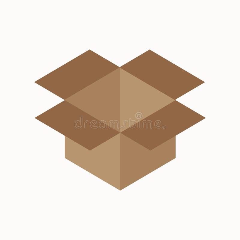 Concept plat de déchets de boîte en carton illustration de vecteur