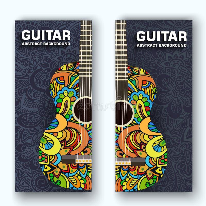 Concept plat de fond d'instruments de musique Vecteur illustration libre de droits