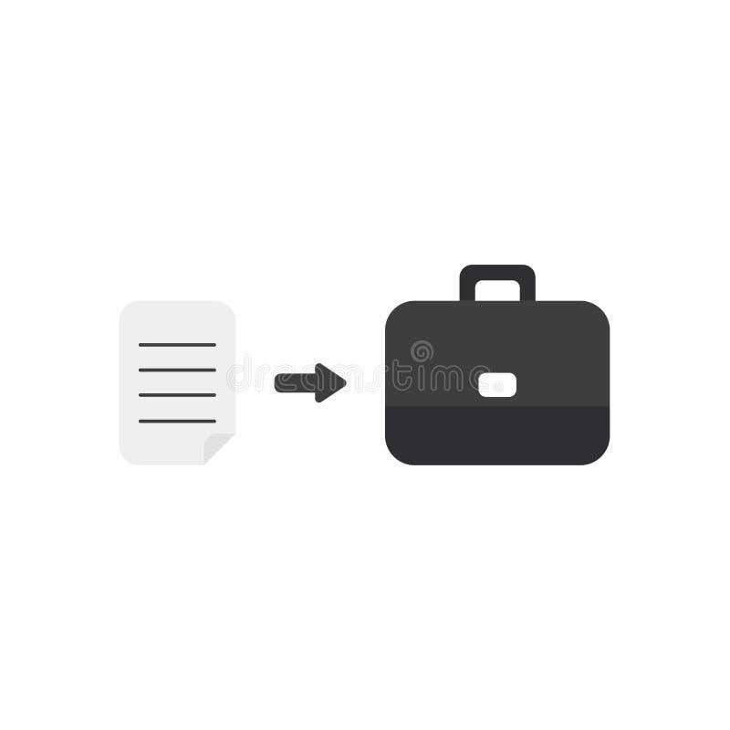 Concept plat de vecteur de conception de papier écrit dans la serviette illustration libre de droits