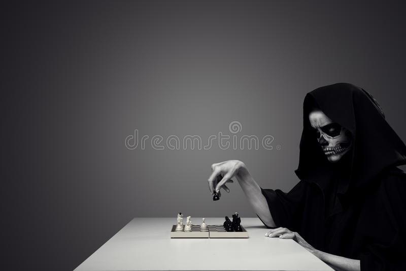 Concept 'Playing With Death'. stock photo