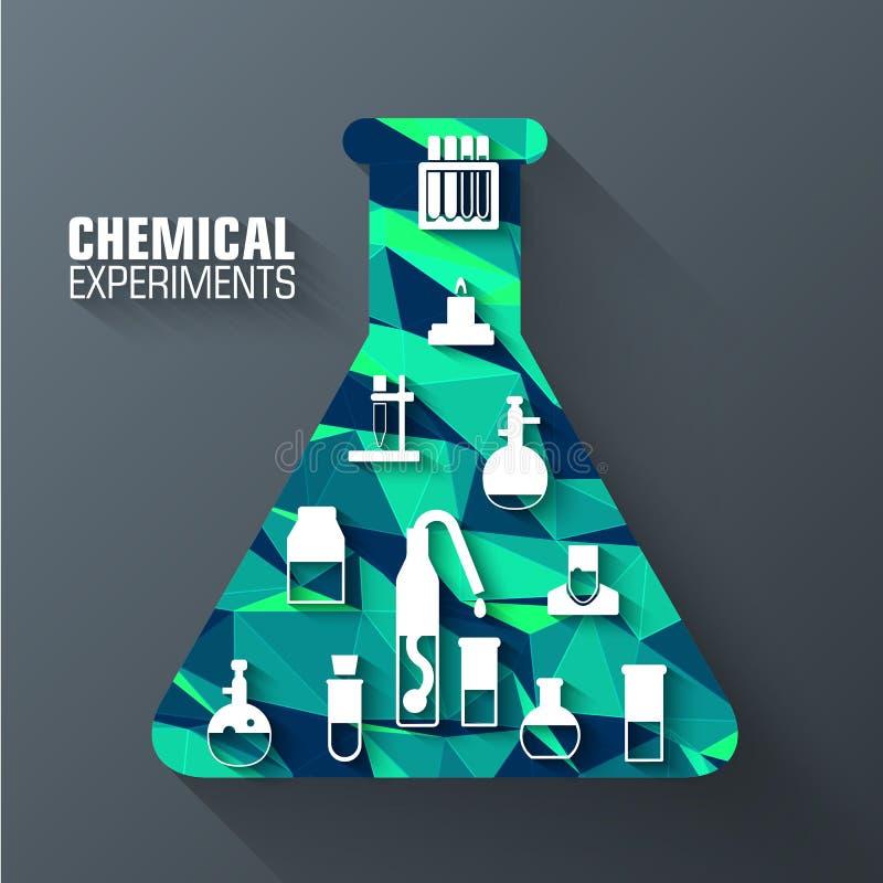 Concept polygonal de fond de tube de la science Calibre d'illustration pour le Web et le mobile photo stock