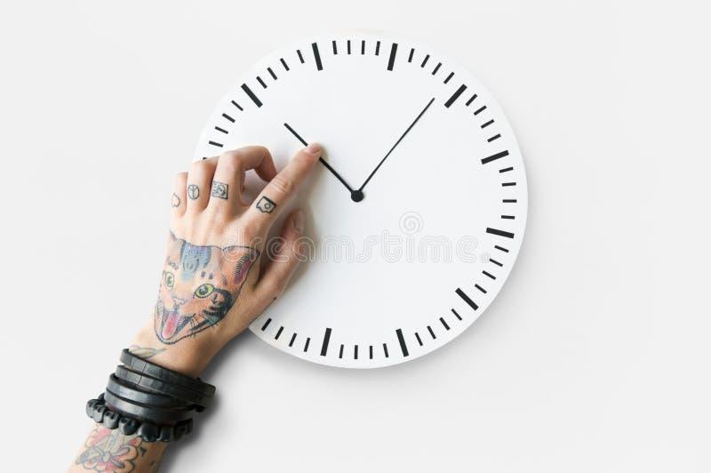 Concept ponctuel de durée de calendrier de tatouage deuxième photo stock