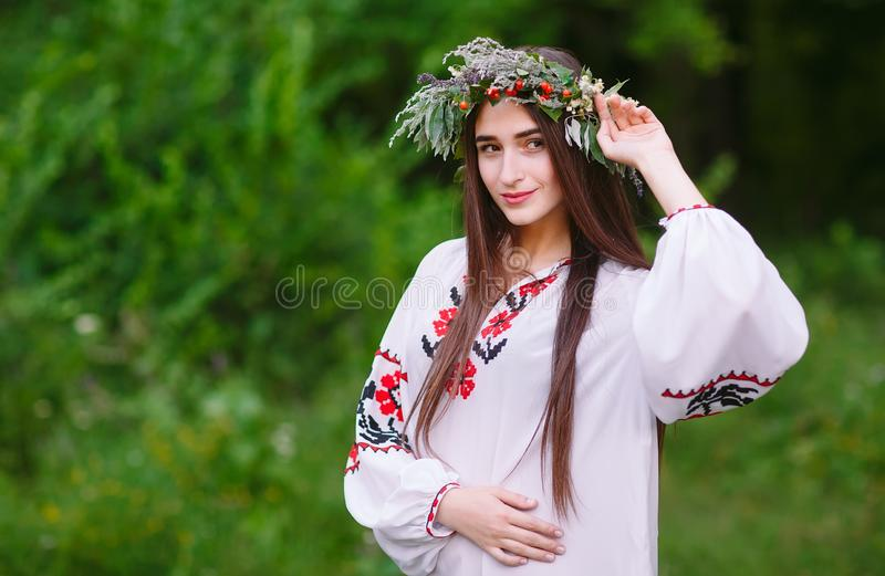 Concept. Portrait of a young girl of Slavic appearance. Portrait of a girl with different sexual orientitsiey. royalty free stock photo