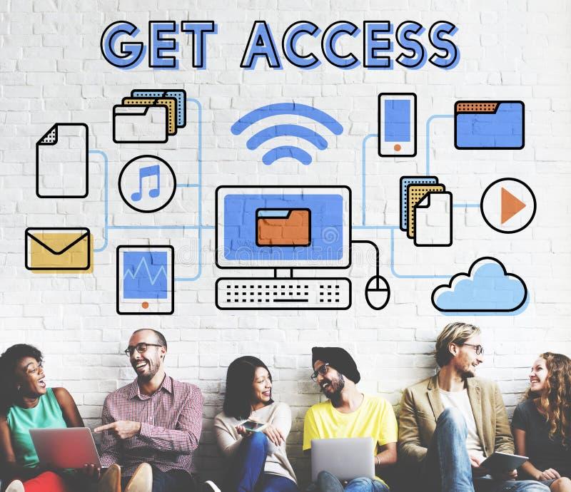 Concept possible ouvert gratuit de disponibilité accessible d'Access images stock