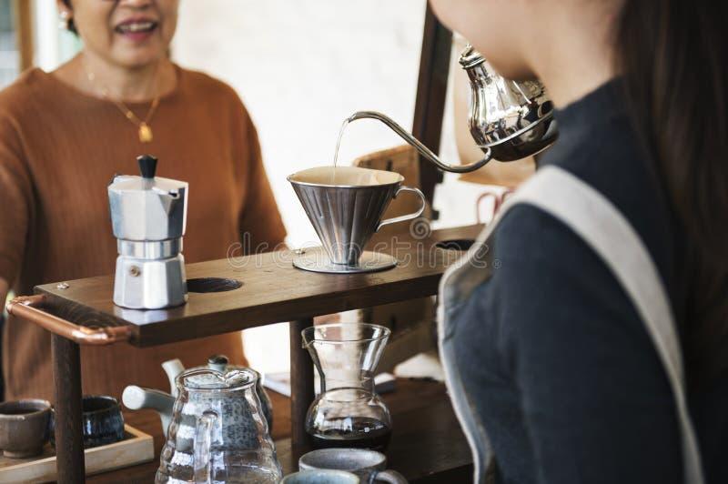 Concept potable de relaxation de caféine de barre de café de boisson photographie stock libre de droits