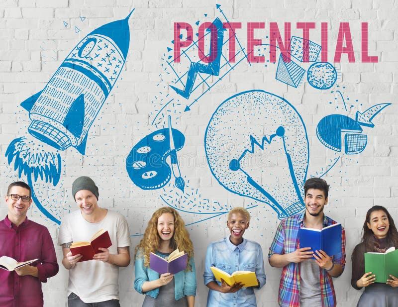 Concept potentiel d'ampoule d'imagination de créativité d'idées images stock