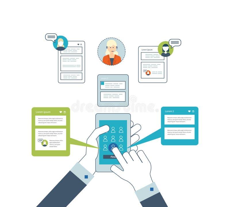 Concept pour l'analyse commerciale, consultant, planification de stratégie, gestion des projets illustration libre de droits