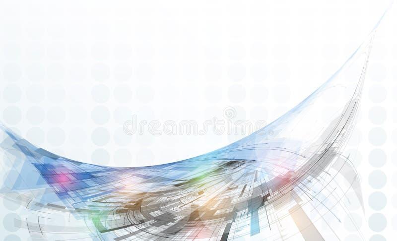 Concept pour l'entreprise constituée en société de nouvelle technologie illustration libre de droits