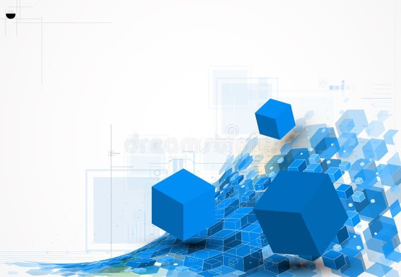 Concept pour l'entreprise constituée en société et le développement de nouvelle technologie illustration stock