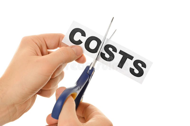Concept pour la crise de récession ou de crédit image stock
