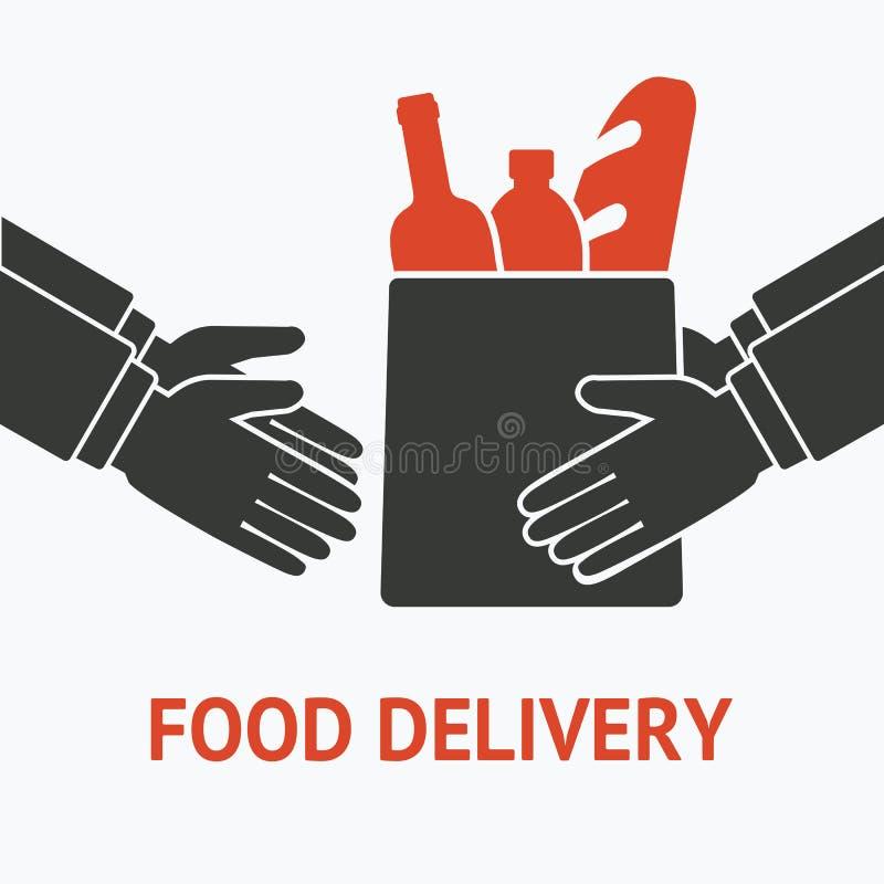 Concept pour la nourriture de la livraison illustration de vecteur