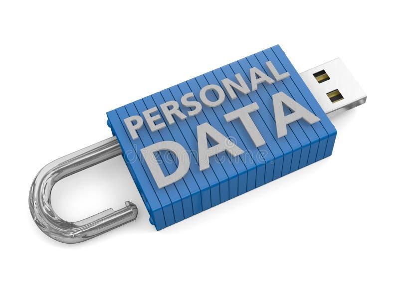 Concept pour la perte de données personnelles illustration libre de droits