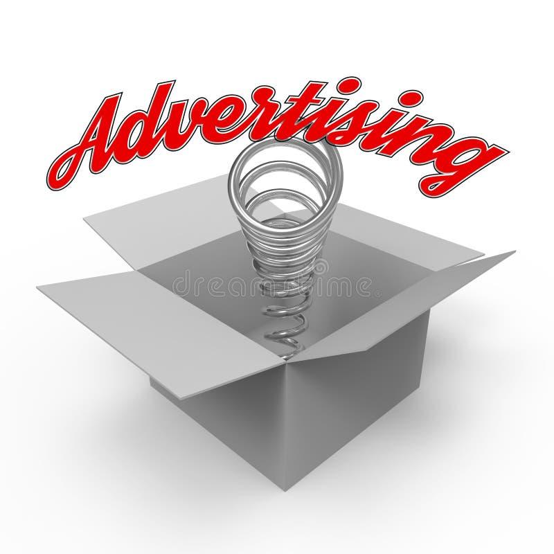 Concept pour le secteur de la publicité illustration de vecteur