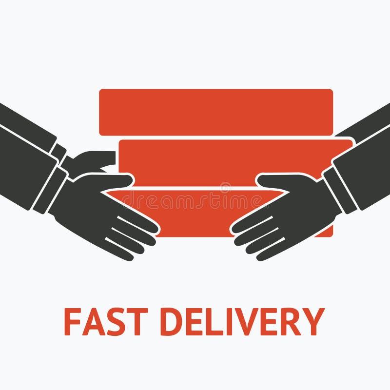 Concept pour le service de distribution illustration stock