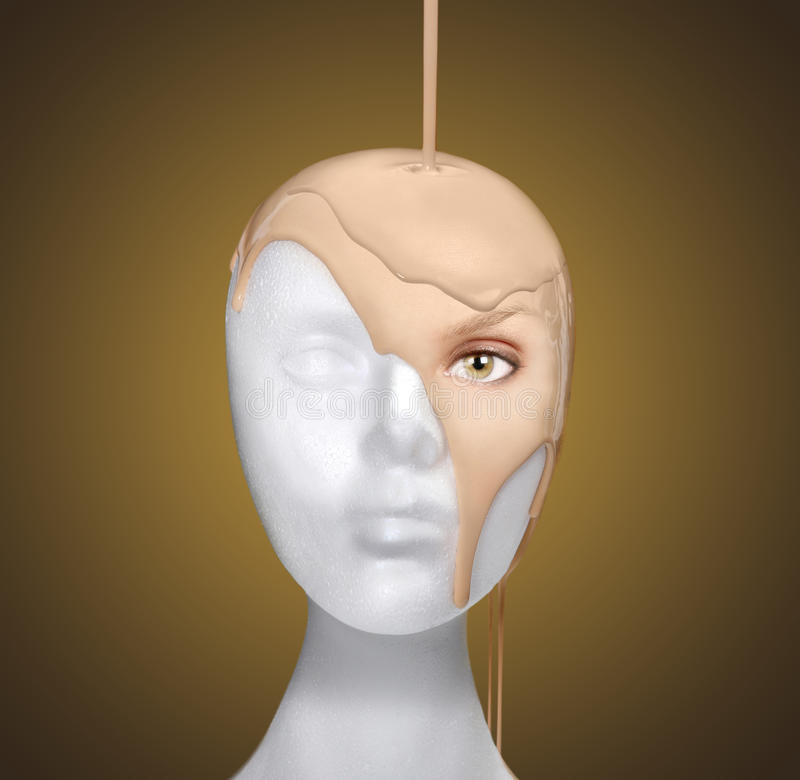 Download Concept Of Pouring A Face Onto A Mannequin Head Stock Photography - Image: 20910282