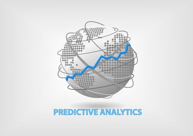 Concept prévisionnel d'Analytics à titre illustratif illustration libre de droits