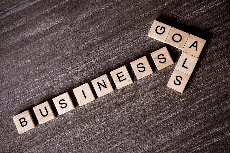 Concept presented by crossword with words business success to go royalty free stock photography
