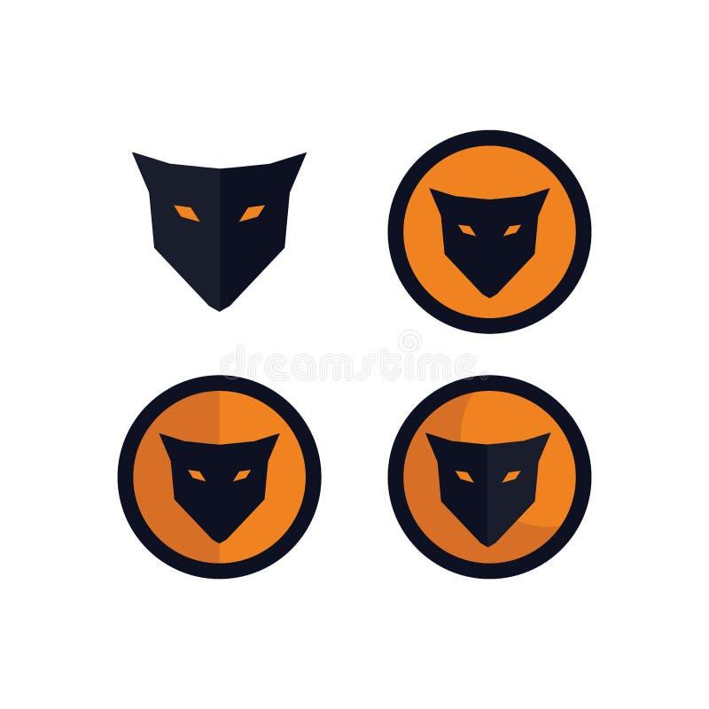Concept principal de logo de renards de paquets illustration libre de droits